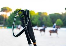 Het detail van het paardpolo mallett stock afbeelding