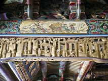 Het Detail van het tempeldak Royalty-vrije Stock Foto's