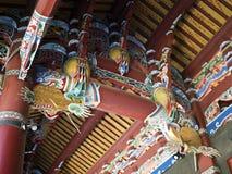 Het Detail van het tempeldak Stock Foto