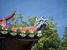 Het Detail van het tempeldak Royalty-vrije Stock Afbeeldingen