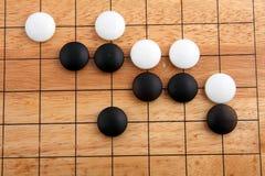 Het detail van traditioneel Japans spel GAAT Stock Foto
