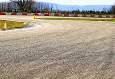 Het detailbeeld van de speedwaybaan Stock Foto