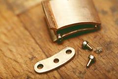 Het detailbevestigingsmiddelen van de juwelierclose-up Stock Afbeelding