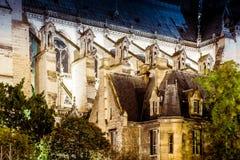 Het detailbuitenkant van Notredame de paris royalty-vrije stock fotografie