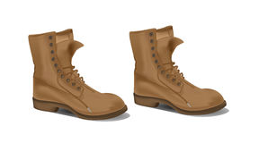 Het detailillustratie van laarzen Stock Afbeelding