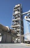 Het detailmening van de cementfabriek Royalty-vrije Stock Foto
