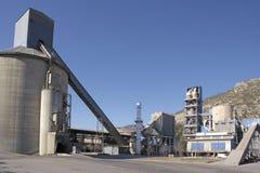 Het detailmening van de cementfabriek Stock Fotografie