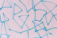 Het Detailoppervlakte van de tekeningstextuur in Blauw Patroon royalty-vrije stock foto