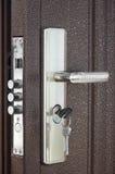 Het deurslot met sleutels Royalty-vrije Stock Afbeeldingen