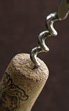 Het diagonale corkscrewing Stock Foto's