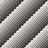 Het diagonale naadloze patroon van zigzaglijnen Stock Foto's