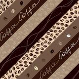 Het diagonale patroon van de koffie royalty-vrije illustratie