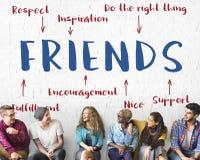 Het Diagram Grafisch Concept van de vriendeninspiratie Stock Foto's