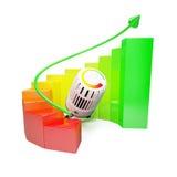 Het diagram van Colorfull met het verwarmen Stock Foto