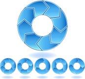 Het Diagram van de Blauw van de chevron Royalty-vrije Stock Afbeeldingen