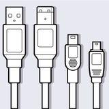 Het Diagram van de Kabels van de computer Royalty-vrije Stock Foto's