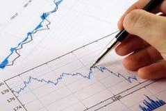 Het diagram van financiën Stock Foto's