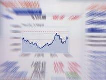 Het diagram van financiën Stock Foto