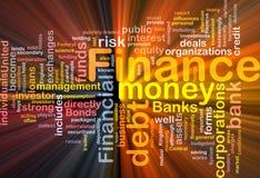 Het diagram van het het geldconcept van financiën het gloeien Royalty-vrije Stock Foto's