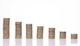 Het diagram van het muntstuk Stock Foto
