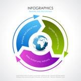Vector procesdiagram Stock Afbeeldingen