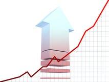 Het diagram van statistieken Stock Afbeeldingen