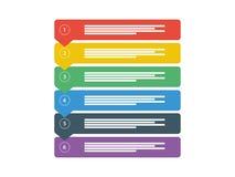Het Diagram werkschema van de Bedrijfsgegevenspresentatie De elementen van Infographic Vector grafisch malplaatje Stock Afbeeldingen