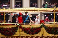 Het diamanten jubileum van de Koningin Stock Afbeelding