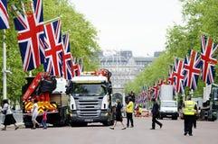 Het diamanten jubileumdecoratie en voorbereiding van de koningin Stock Afbeelding
