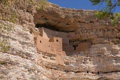 Het dichtbijgelegen Kamp Verde, Arizona, de V.S. van het Montezumaskasteel Stock Foto