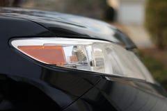 Het dichte omhooggaande profiel van de autokoplamp Royalty-vrije Stock Foto's