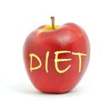 Het dieet van de appel Stock Fotografie