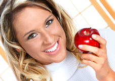 Het dieet van de appel Royalty-vrije Stock Foto