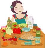 Het dieet van de veganist Royalty-vrije Stock Afbeeldingen