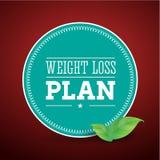 Het dieet van het het verliesplan van het gewicht Royalty-vrije Stock Afbeeldingen