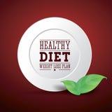 Het dieet van het het verliesplan van het gewicht Stock Afbeeldingen