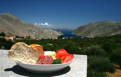 Het dieet van Mediterranian Stock Foto