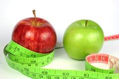 Het Dieet van twee Appel stock afbeeldingen