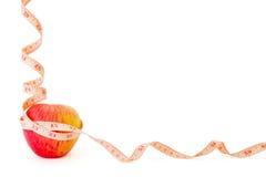 Het dieetframe van de appel met copyspace Stock Foto