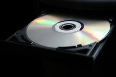Het dienblad van de computer CD/DVD Stock Foto's