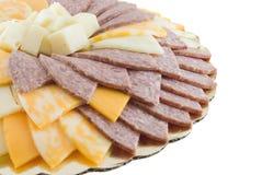 Het Dienblad van de kaas en van het Vlees Royalty-vrije Stock Afbeelding