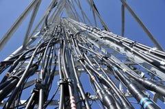 Het Dienblad van de Kabel van de telecommunicatie stock fotografie