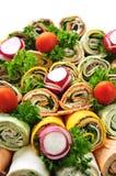 Het dienblad van de sandwich Stock Foto