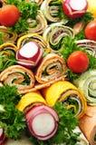 Het dienblad van de sandwich Stock Afbeelding