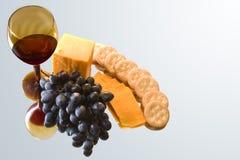 Het dienblad van de wijn stock foto