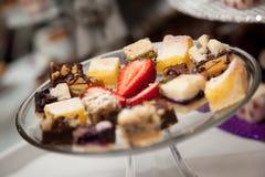 Het dienblad van het dessert Stock Fotografie