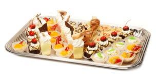 Het Dienblad van het dessert stock foto's