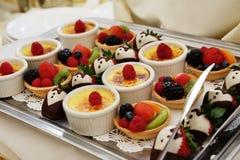 Het Dienblad van het dessert Stock Afbeelding