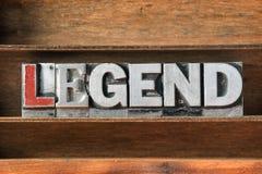 Het dienblad van het legendewoord royalty-vrije stock foto