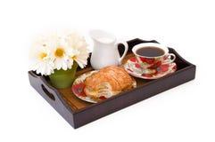 Het dienblad van het ontbijt Stock Afbeelding